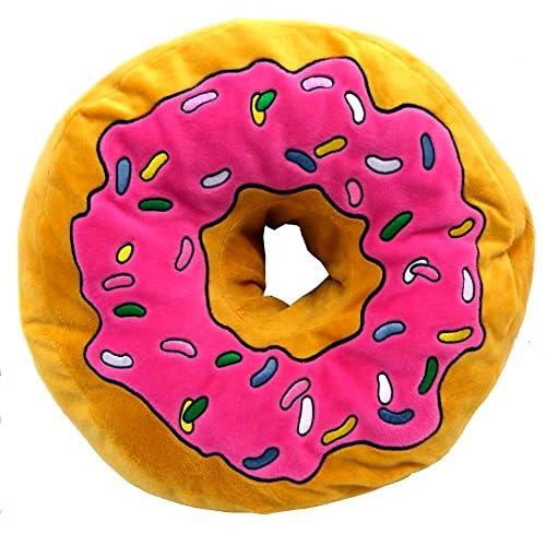 Brigamo 16840–Cuscino peluche XXL a forma di donut, grande e morbido