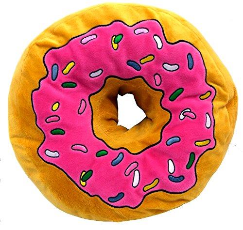 Brigamo 16840 - XXL Plüsch Donut Kissen, Kuschelkissen extra dick und extra flauschig