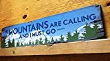 bawansign The Mountains are Calling and I Must Go Handcrafted Rustic Wood Sign The Mountain Life Mountain Decor for Home Cabin