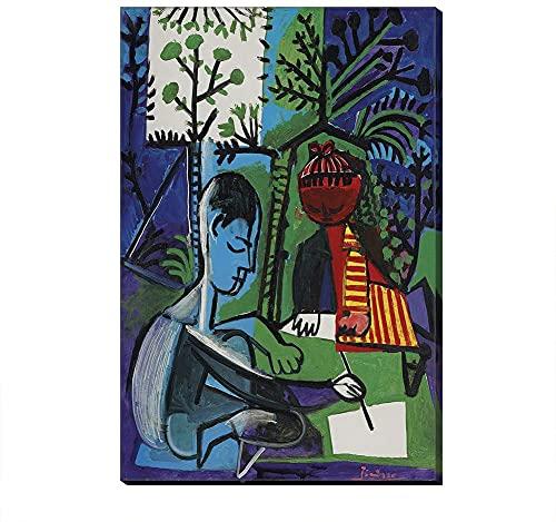 XIAOMA Picasso - Quadro artistico astratto ad olio e Pablo - Stampa moderna per camera da letto, decorazione artistica da parete senza cornice (A-5,70 x 100 cm)