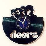 THE DOORS - ロックバンド - ビニールレコード壁時計 ロックミュージックバンド デコレーション 友人へのユニークなギフトアイデア My Store