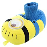 Despicable Me Minions Kids Stuart Sock Top Slippers (9/10 M US Toddler)