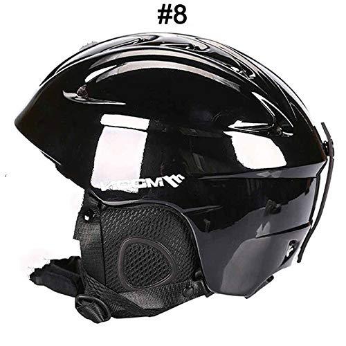 IAMZHL Skihelm Integrierter geformter Skihelm für Erwachsene und Kinder Schneehelm Skateboard Ski Snowboard Helm-a37-S (52-55cm)