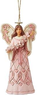Enesco Jim Shore Heartwood Creek PinkAngel/Butterfly CancerAwar Figurine, 4.7 Inches Height
