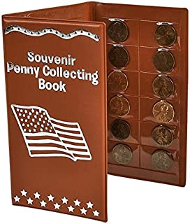 Red Elongated Souvenir Penny Collecting Book by RINCO
