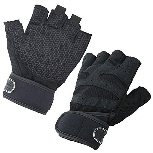 Luwu-Store Gym Bodybuilding Trainings Sport Fitness Gewichtheber Handschuhe schwarz XL