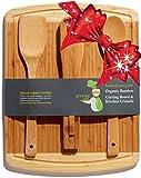 Greener Chef La tarjeta de corte de bambú y tabla de quesos regalos Casa Set - para las madres regalo del día, regalo de boda, regalos personalizados y el regalo nupcial Utensilios Idea -3 bonificación