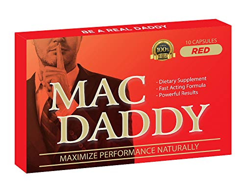MAC DADDY RED - Maximize Naturally! Effectively Increase Energy Levels - 10 Red Pills per Pack