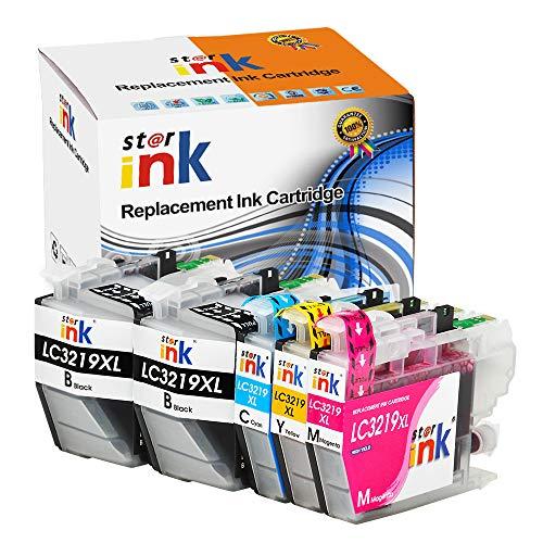 Starink Lot de 5 cartouches d'encre compatibles avec Brother LC-3219XL LC3219XL LC 3217L pour imprimantes Brother MFC J5330DW J5335DW J5730DW J5930DW J6530DW J6930DW J6935DW