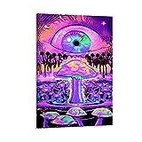 JIANGJUNO Póster de seta iluminado con pintura decorativa en lienzo para pared o sala de estar, 40 x 60 cm