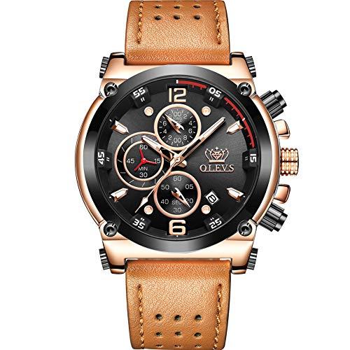 Kingten Reloj de hombre Original Esfera grande Puntero Multifunción Personalidad de Moda Negocios…