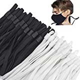 200 Pcs Elastic String for Masks, Sewing Elastic Band Cord with Adjustable Buckle Ear Loop Buckles for Non-Slip Making Supplies DIY Stretch String