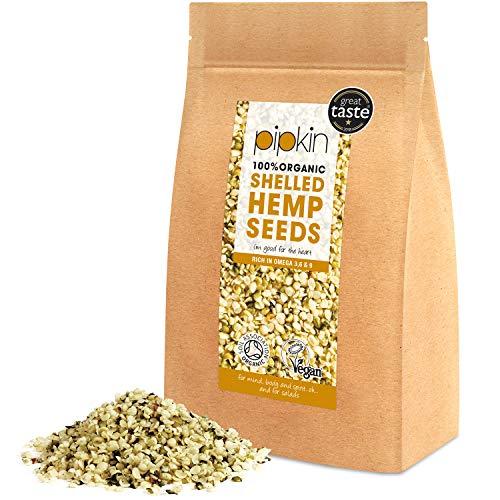 Pipkin Semillas Peladas de Cáñamo 100% Orgánicas, No-GMO