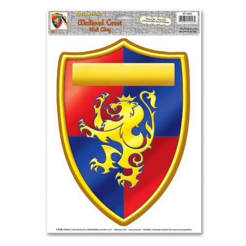 Bouclier Adhésif Médiéval Lion