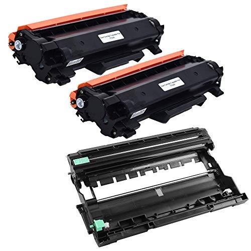 KATRIZ Vervanging 2 stuks TN2420 toners + 1 stuks DR2400 drumeenheid Compatibel voor Brother HL-L2310D HL-L2350DN HL-L2370DN HL-L2375DW DCP-L2510D DCP-L2530DW MFC-L2710DN MFC-L2730DW MFC-L2750D