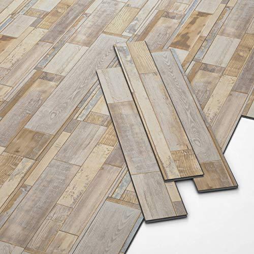 ARTENS - PVC Bodenbelag - Click Vinylboden - Multiholz-Effekt - 1,41m²/10 Dielen