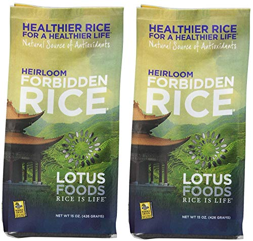 Lotus Foods Heirloom Forbidden Black Rice |15 ounces | Pack of 2