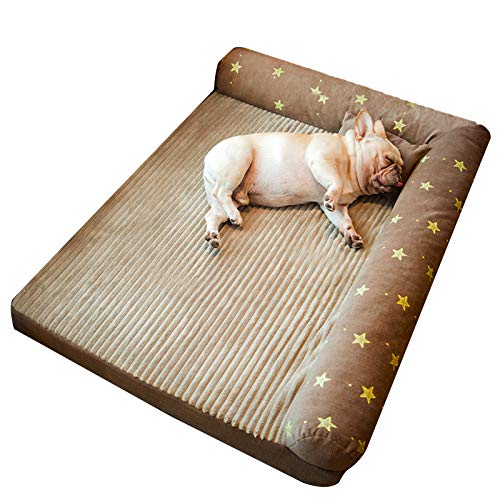 LPLP Pet Deluxe Dog Nonslip, Memory Foam Platform Dog Bed with Removable and Washable Bedspread