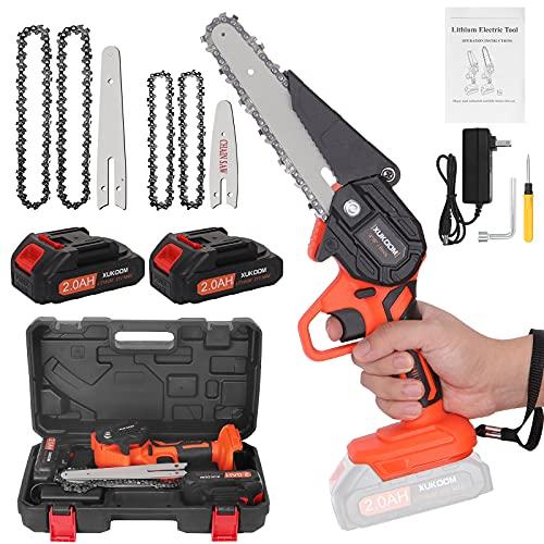 Mini Chainsaw Cordless 6 Inch, Handheld...