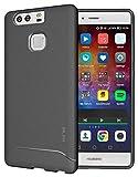 Huawei P9 Case, TUDIA Full-Matte Arch TPU Bumper Protective Case for Huawei P9 (Gray)