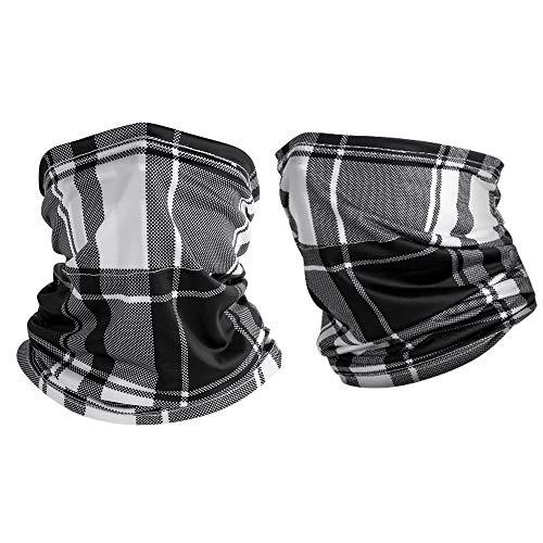 GREMAG Schlauchschal Schnelltrocknend Multifunktionstuch Atmungsaktiv Maske Gesichtstuch UV-Schutz Hals Gamasche Fahrrad Tuch Halstuch Kopftuch für Yoga Wandern Motorradfahren Klettern 2 Stück