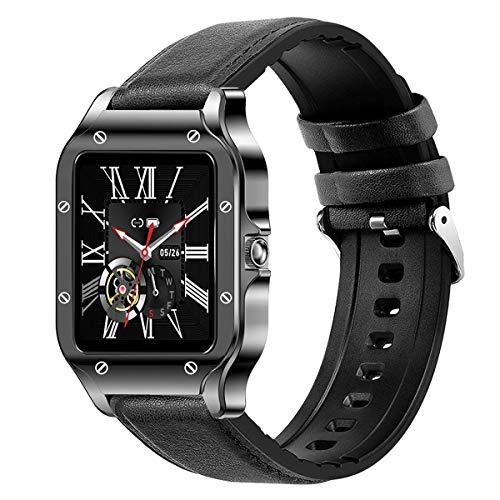 BINDEN Smartwatch LAND2S Reloj Inteligente Muestra Notificaciones Monitor de Salud y Deporte Pulsera con Estilo y Resistencia Batería hasta 5 Días, Tacto Piel Color Negro
