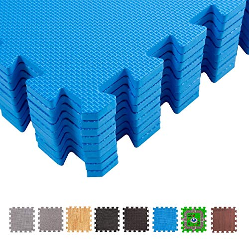 Bodenschutzmatten f/ür den Fitnessraum oder Keller bonsport Schutzmatten Set 40x40 cm 12 Eva Fitness Puzzlematten
