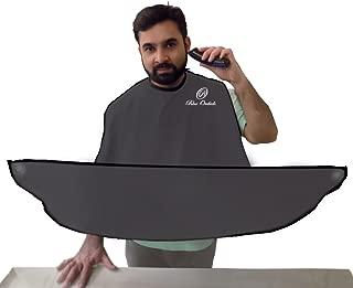 Beard Catcher - Beard Shaving Apron and bib for catching facial Hair Clippings (Gray)