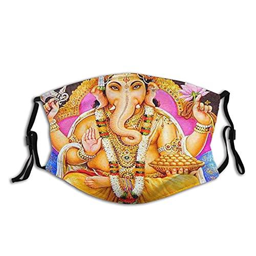 Indisk elefant kram ansikte M-A-S-K återanvändbar tvättbar scarf anti-damm bandanas för kvinnor män med 2 filter