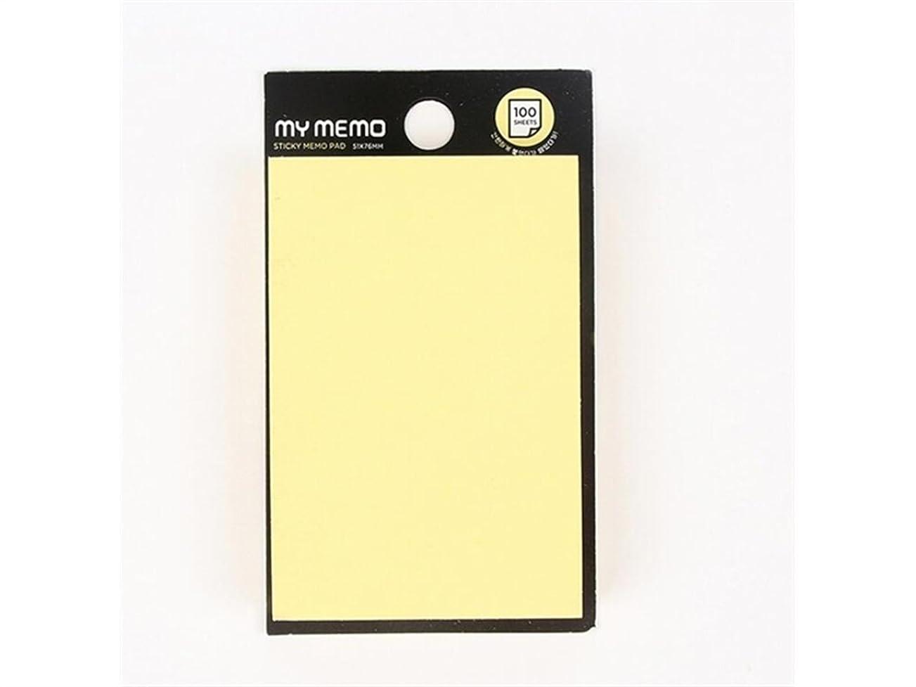 しわブラケット対処FenBuGu-JP 学生教師 分類のためのスクエアスティッキーノートピュアカラーメッセージメモ(イエロー) (色 : Yellow)