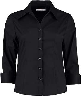 Kustom Kit Uomo Contrasto Premium Oxford Camicia Casual Lavoro Ufficio Manica Lunga