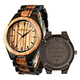 Engraved Wooden Watches, Personalized Engraved Wood Watch Japanese Movement Battery Anniversary Birthday Graduation Design for Husband Love Dad Mom Son Friend Engraved Watch (for All Love)