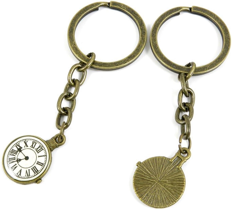 80 PCS Keyring Car Door Key Ring Tag Chain Keychain Wholesale Suppliers Charms Handmade I4GX9 Pocket Watch