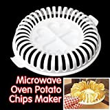 Potato Chips Baking Tray Microwave Oven Fat Free Potato Chips Maker Home Baking Tool by S.Team. Kitchen