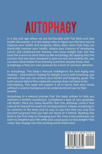 51CYYdGZf3L - Autophagy: Body's Natural Intelligence for Anti-Aging and Healing - Intermittent Fasting for Weight Loss & Self-Cleansing
