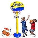 Panier de basket-ball Toddler Kids pour enfants - Taille et poids de base réglables - Super jouets d'intérieur et d'extérieur...
