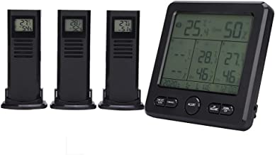 Estación meteorológica, sensor meteorológico de carga USB, medidor de temperatura, pantalla ℃ / ℉ al aire libre para medición de humedad Medición de temperatura