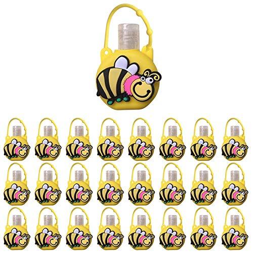 25PCS Botellas de Viaje Caricaturas Portátiles para Niños, Reutilizable Botellas Vacía Contenedor Rellenable para Desinfectante de Manos Champús, Escuela, Viaje el Aire Libre, 30ml