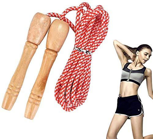 Springseil,Länge Einstellbar,Komfortablen & Anti-Rutsch Griffen, für Kinder und Erwachsene,für Crossfit, Sport Training, Fitness, Abnehmen,Kinder Baumwolle Seilspringen,Skipping Rope