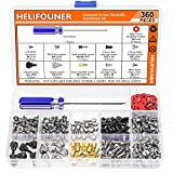 HELIFOUNER 360 Pieces Computer Standoffs Screws Assortment Kit with a Screwdriver