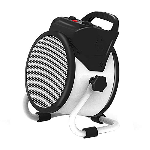 LJ Portable Electric Industrial Air Heater Ceramic Fan Heaters with 2 Heat Settings, Thermostat, PTC Fast Heating, Overheat Protection for Garages, Workshop (2000W)