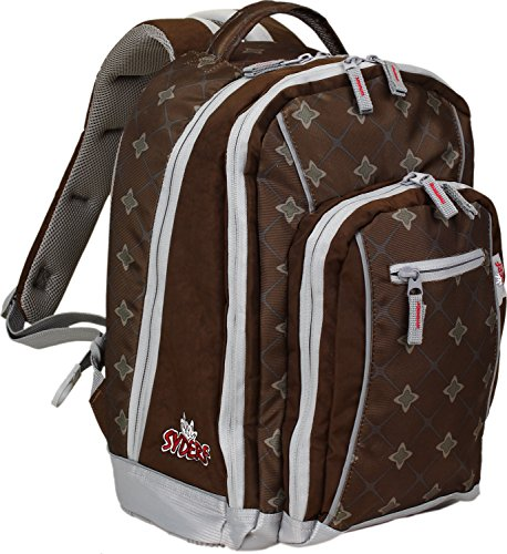 Syderf Schulrucksack KIOWA Mustang 26 brown/checked/patterned