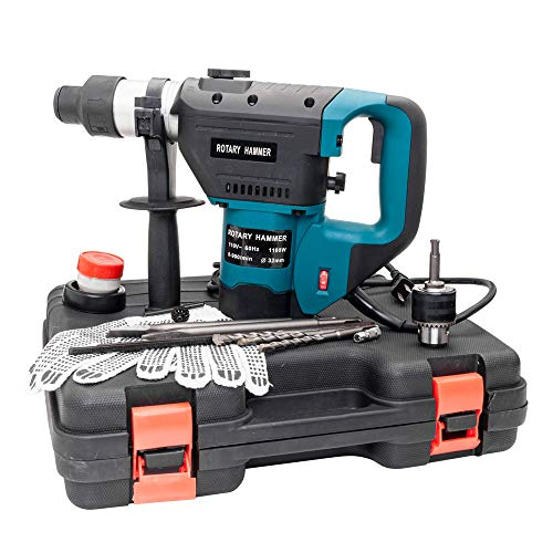 Laoda 1-1/2' SDS Electric Hammer Drill Set 1100W 110V Blue