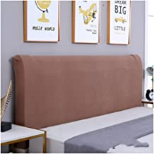 Bed Headboard Cover Dust Proof Stretch Bed Head Protector Cover Washable Removable Solid Color Protective Cover Decor for ...