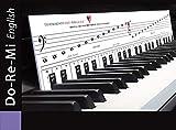 Plantillas para aprender a tocar con DoReMi 'piano con corazón' con teclas: notas musicales, orientación de las teclas, ayuda de aprendizaje para piano y piano.