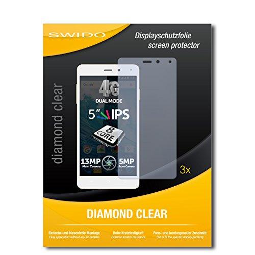 SWIDO 3 x Schutzfolie Allview E4 Bildschirmschutz Folie DiamondClear unsichtbar