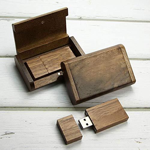 Pixelstudio, USB-stick, 16 GB, met elegant houten etui, cadeauset, ideaal bijvoorbeeld voor bruiloftsfotografen, vakantiefoto's, foto's van doop, bruiloftsfoto's en vele andere gelegenheden. In doos, doos, doos