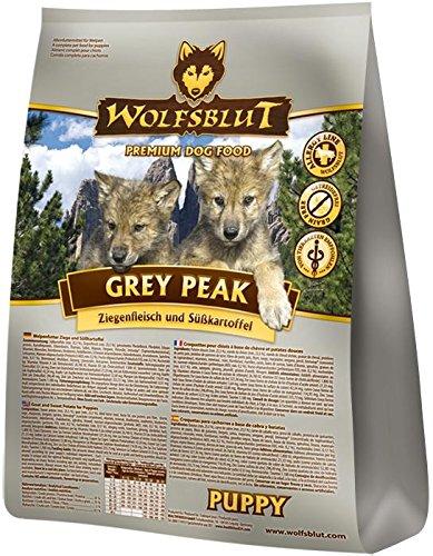 Wolfsblut | Grey Peak Puppy | 2 kg | Ziege | Trockenfutter | Hundefutter | Getreidefrei