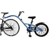 HUOFEIKE Adulti Bike Trailer, Bambini Rimorchio in Tandem Bicicletta Pneumatico Largo Bike Trailer, 1 velocità Manubrio Regolabile Parafanghi E Copricatena Rapida Installazione di Carico 80Kg,B1