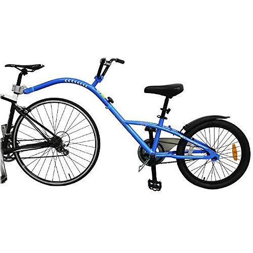 HUOFEIKE Erwachsene Fahrradanhänger, Kindertandemanhänger Fahrrad Breitreifen-Fahrrad-Anhänger, 1-Fach Verstellbare Lenker Kotflügel Und Kettenschutz Schnell Installieren Last 80Kg,B1